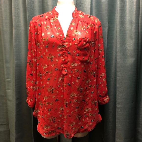 Pleione Tops - Pleione   Flowing blouse   Floral print   XS